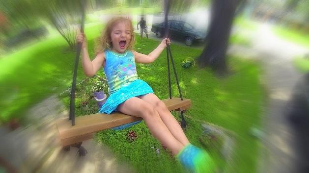 Kids Play Swings