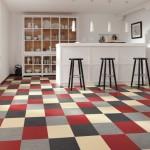Vinyl Checkered Flooring