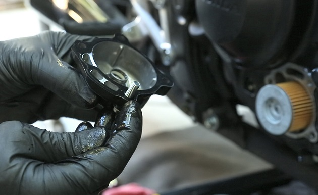 Changing Motorcycle Engine Oil