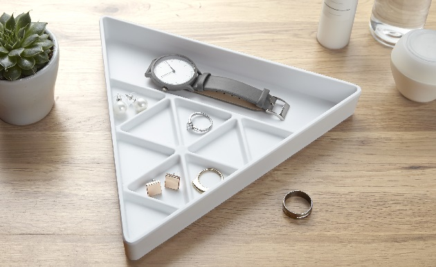 storage tray with compartments