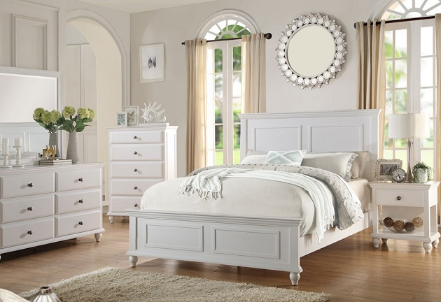 White Provincial Bedroom
