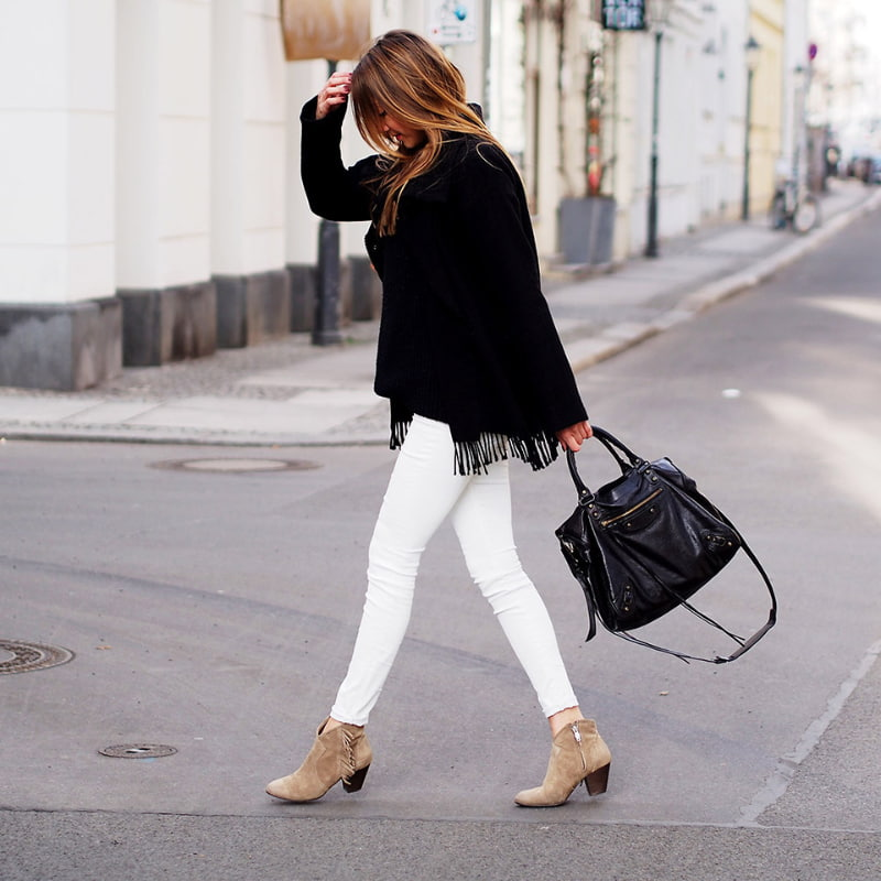 gray low ankle boots