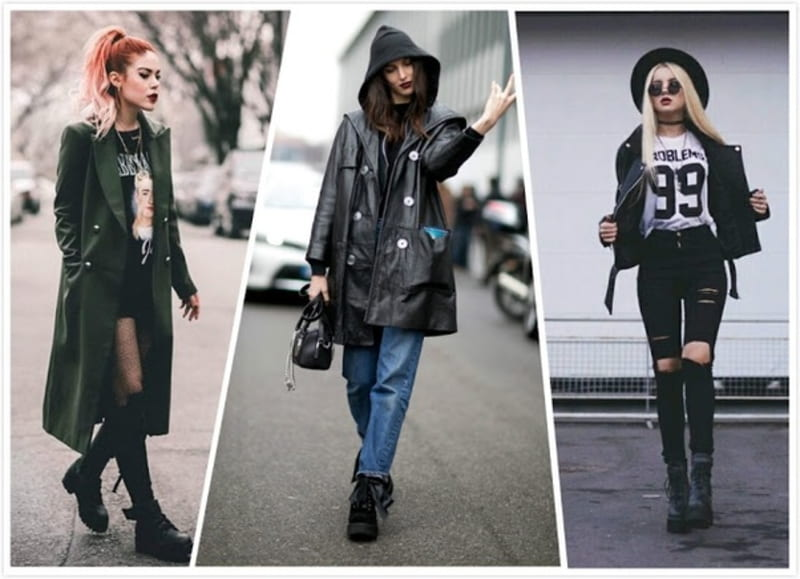 grunge style boots