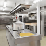 Kitchen with commercial mixers
