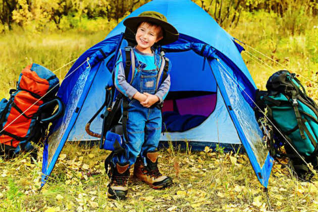 kids dress for camping