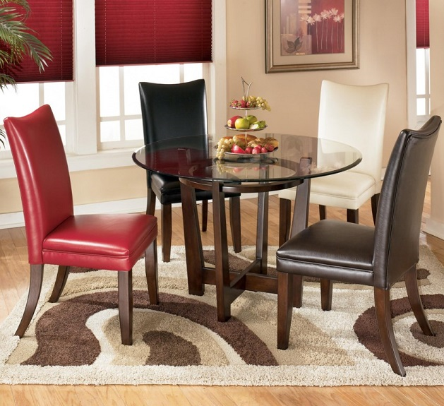 dining room chairs with different colors