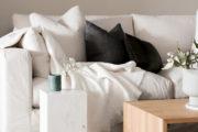 modern sofa with neutral colour
