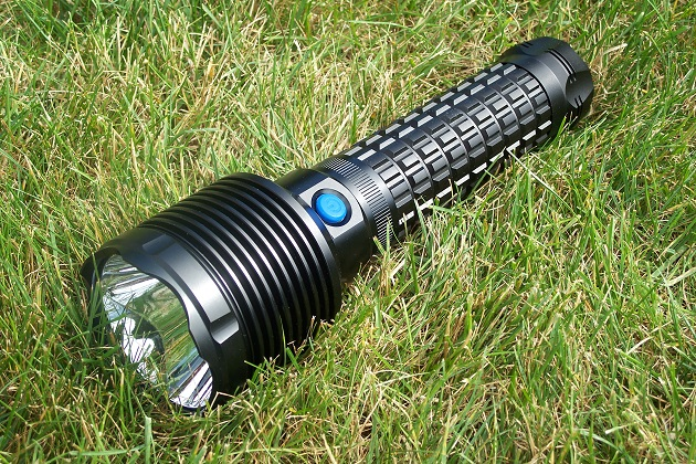 flashlight on grass