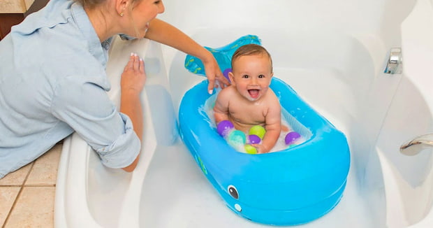 inflatable baby bathtub
