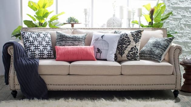 Decorative Cushions Throws and Rugs living room