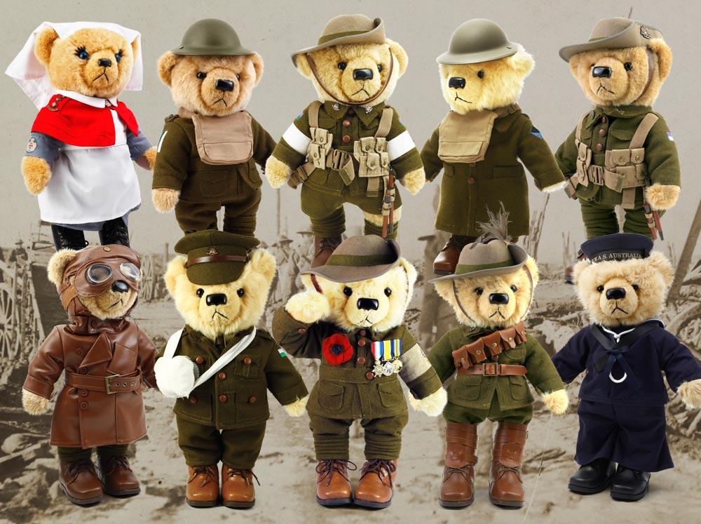 a commemorative army bear