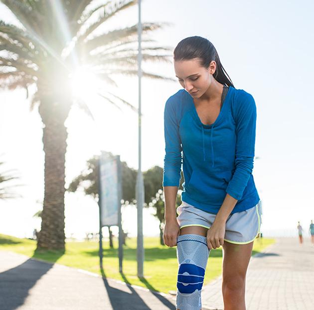 wear knee support brace
