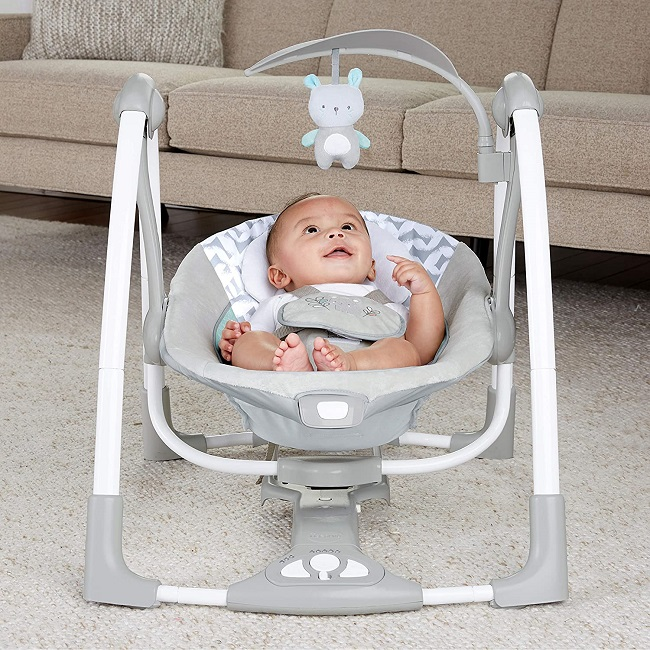 picture of a baby in a bouncer seat