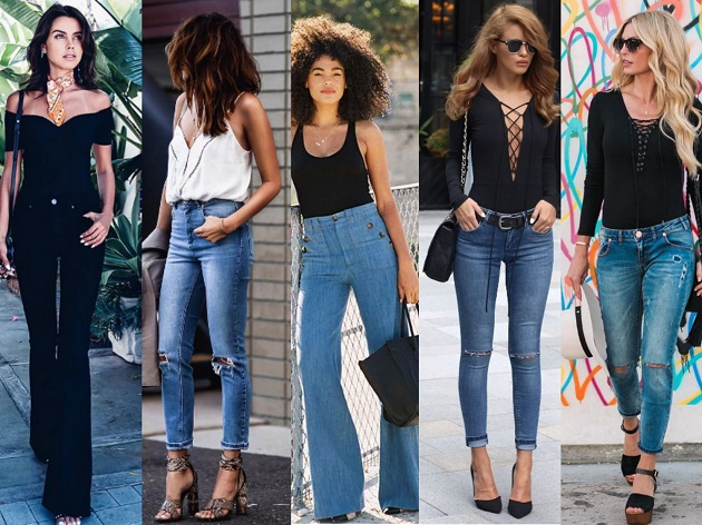 Different styles of bodysuits
